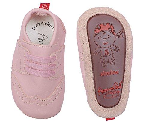 Anna E Paul Rastejando Sapatos Budapester Ross - Slimline 1211 Com Sola De Borracha Cor De Rosa (pink)
