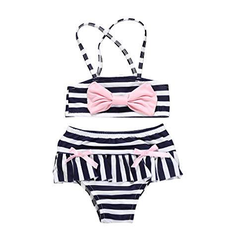 jerferr Baby Badebekleidung Sommer Kleinkind Mädchen Badeanzug Streifen Bowknot Bademode Bikini Outfits