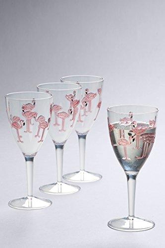 next Weingläser mit Flamingo Print 4er Set Rosa Einheitsgröße