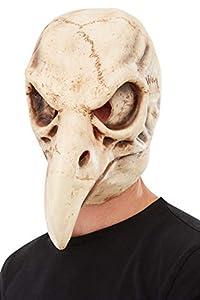 Smiffys 50819 máscara de látex, diseño de calavera de pájaro, unisex, para adultos, color blanco