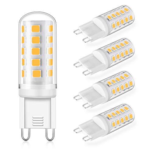 G9 LED Dimmbar Leuchtmittel 5W Ersatz für 40W 50W Halogenlampe - Warmweiß 2700K Led glühbirnen - G9 Sockel Led Birne Lampe, 400LM,AC 220-240V, 4er Pack -