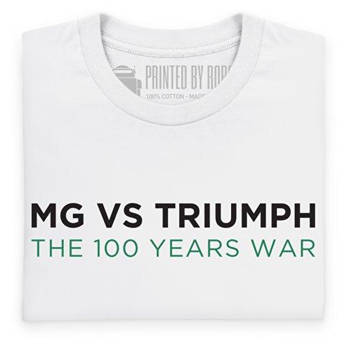 MG vs Triumph T-Shirt, Herren Wei