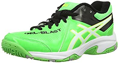 Asics Gel-Blast 6 GS, Unisex-Kinder Outdoor Fitnessschuhe, Grün (Neon Green/White/Black), 39 EU