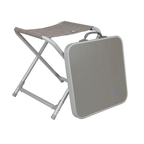 Aluminium Klapp-Hocker mit MDF Tischplatte 42×42 cm •… | 04059301192309