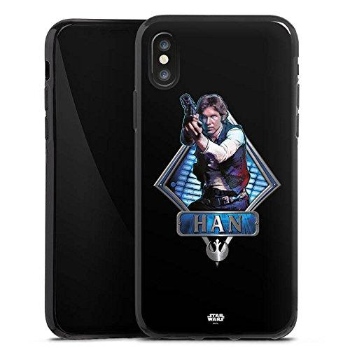 Apple iPhone X Silikon Hülle Case Schutzhülle Star Wars Han Solo Merchandise Silikon Case schwarz