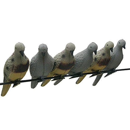 Sportsmann 3D Tier Taube Köder Vögel Zielscheiben EVA Schaum Bogenschießen Lebensechte für Bogen Praxis Schießen Jagd Tierköder Ziel Pfeile Outdoor Dekoration von Baum im Park Garten (pack of 4)