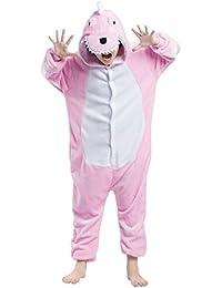 Pijama Dinosaurio, Franela Onesie Animal Cosplay para Niños entre 9,0 y 1,46 m Unisex Kigurumi