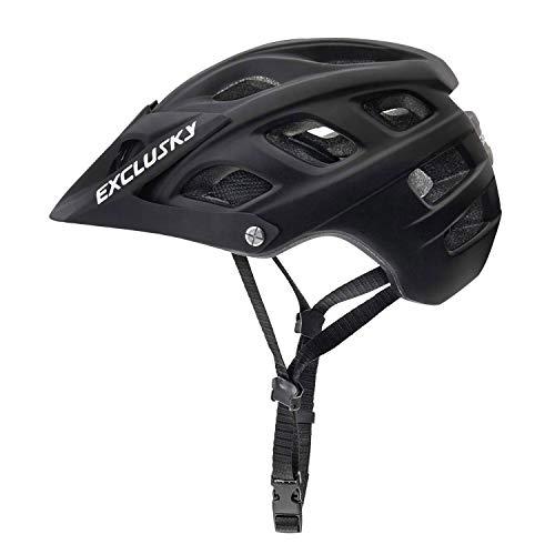 Exclusky Casco de vélo Casques VTT Pour Adulte,56-61cm (noir)