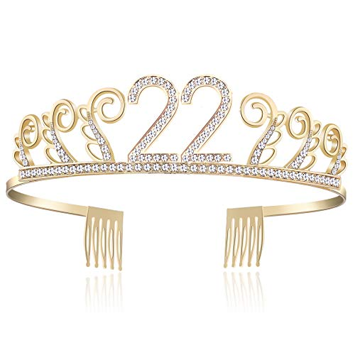 d40b442144 BABEYOND Kristall Geburtstag Tiara Birthday Crown Prinzessin Geburtstag  Krone Haar-Zusätze Rosa oder Silber Diamante Glücklicher ...