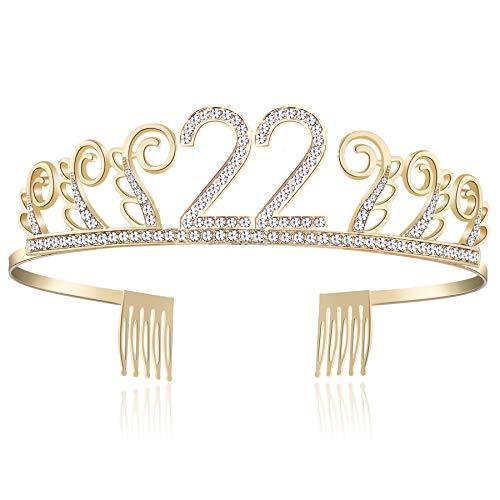 Happy Birthday Tiara - BABEYOND Kristall Geburtstag Tiara Birthday Crown