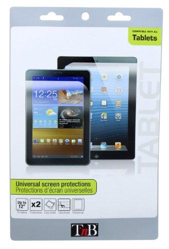 """T'nB PRECTAB1 Pack de 2 protections d'écran universel pour Tablette 7-12"""""""