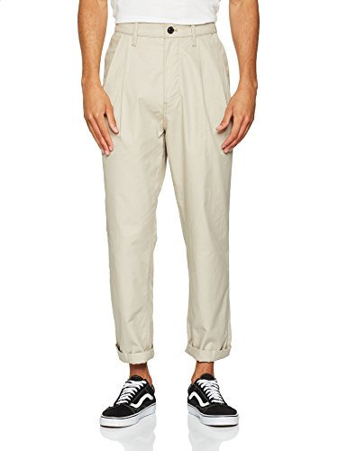 G-STAR RAW Herren Bronson Pleated Relaxed Tapered Chino Hose, Beige (dk Brick 9405-1214), W38/L34 Relaxed Fit Pleated Chino-hose