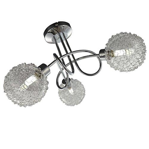 Làmpara de techo LED - LED Focos - de techo - Làmpara de techo LED para salòn - barra de tres focos con LED G9 de 3,5W de potencia y 320 lùmenes - en color cromado