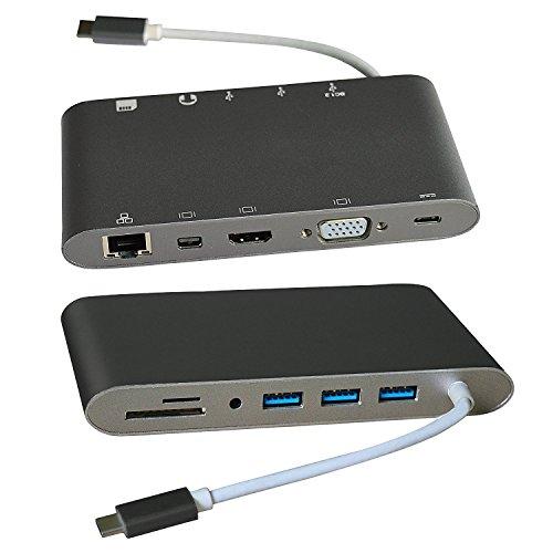 USB C HDMI/VGA/MINI Display/SD/RJ45;USB Type C HDMI/VGA/MINI Display/SD/RJ45;USB Type C zu HDMI (4kx2k@30Hz ) USB Type C Zu Mini Display(4kx2k@30Hz ) ; USB Type C zu VGA;USB Type C Hub Adapter;USB Type C Zu SD;USB Type C Zu RJ45; für iMac MacBook Air MacBook Pro MacBook Mac Mini PC