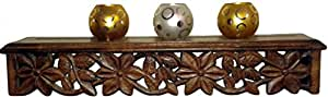 Wooden Wall Shelf Hand Carved