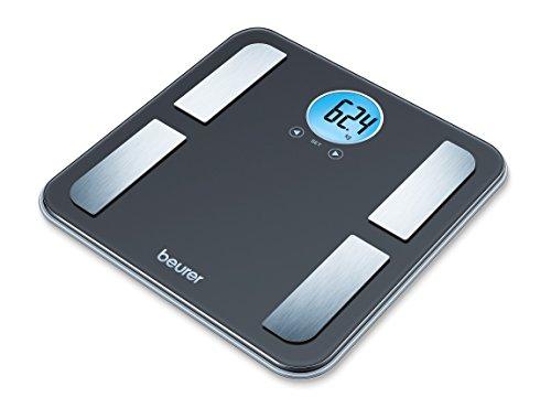 Beurer BF 195 Glas-Diagnosewaage - Personenwaage zur Ermittlung von Körperfett, Muskelanteil und Kalorienbedarf
