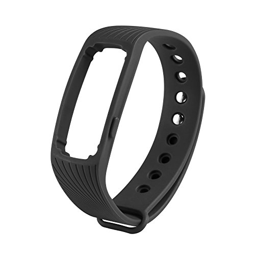 COOSA WristBand con multi-colore per ID107 banda braccialetto Smart Wristband Wireless Activity Bracciale Sport Arm Band nuovo Bluetooth intelligente frequenza cardiaca braccialetto multicolor sano Wristband sostituzione impermeabile (nero, ID107)