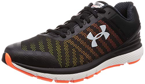 Under Armour Charged Europa 2, Scarpe Running Uomo, Nero (Black/High-Vis Yellow/MOD Gray 002), 40.5 EU