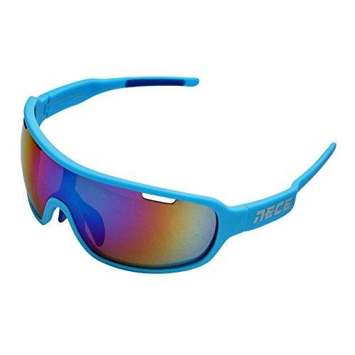 Sunny Honey Frau Männlich Reiten Sonnenbrille - Winddicht - Schlagfestigkeit -3 Paar Linsen (Farbe : B)