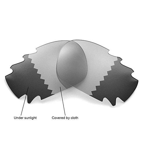 Walleva Ersatz belüftete Linsen für Oakley Jawbone Sonnenbrille - Mehrfache Optionen (übergang/photochrom - Polarisiert)