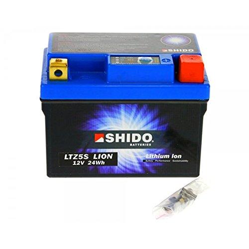 Shido LITHIUM-IONEN Batterie YTZ5S 12 Volt, SHIDO Motorrad Batterie | LiFePO4 | LI-YTZ5S passend für Ering Speedy 25 4T, BT50QT-3N, Bj. 2007-2008 [Preis ist inkl. Batteriepfand] (Lithium-batterie 3n)