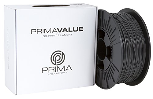 Price comparison product image 3D Prima PrimaValue PLA Filament, 1.75 mm, 1 kg Spool, Dark Grey