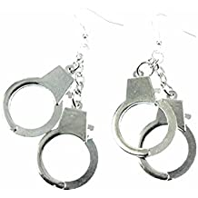 Esposas aretes colgantes Miniblings Policía ESPOSAS atarán XL