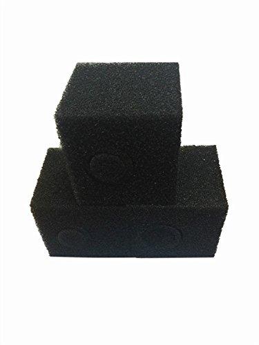 LTWHOME Compatible en Mousse 20cm Grossier Etang Filtration en Mousse Cube Bloque Pompe Pré Filtre Eponge(Paquet de 6)