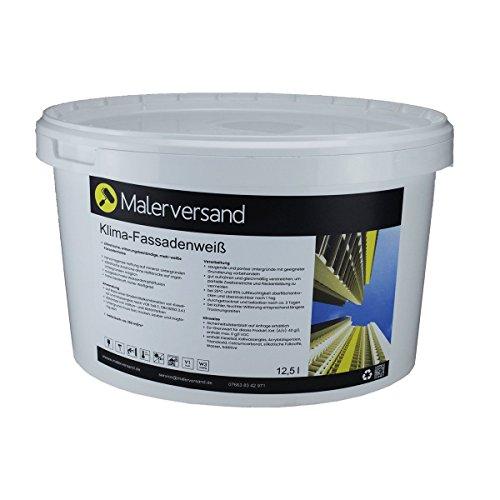 Malerversand Klima-Fassadenweiß 12,5 Liter - Silikat-Fassadenfarbe - außen - Fassade - weiß