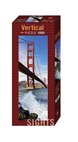 Heye 29669 - Vertikalpuzzle, Sights Golden Gate Bridge, 1000 Teile (Berühmt Bridge, Golden Gate)