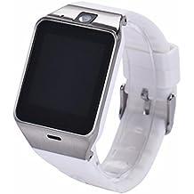 Zarupeng GV18 Bluetooth Smart Watch teléfono GSM NFC cámara reloj impermeable para Samsung iPhone(Blanco)