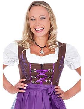 Trachten Mujer tirolesa, muchos diferentes modelos y colores. 3piezas) Incluye Blusa y delantal (Tallas 32–50