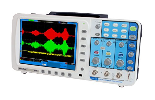 PeakTech 2-Kanal 100MHz Digital Speicheroszilloskop mit 20cm Farb-TFT Anzeige - 1GS/S - mit Lan Netzwerkanschluss / USB Schnittstelle / VGA Schnittstelle, 1 Stück, P 1245