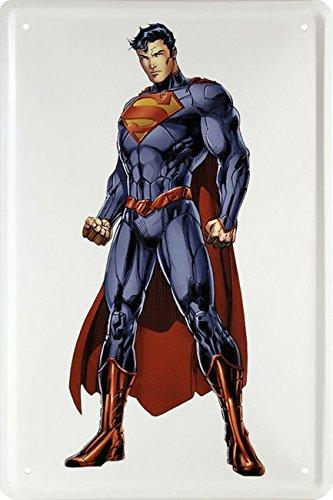 Blechschild 20x30 cm Superman DC Comic Superheld Poster Clark Kent Metall (Superhelden Schild)