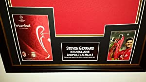 STEVEN GERRARD Of Liverpool Signed SHIRT ISTANBUL DISPLAY from www.signedmemorabiliashop.co.uk