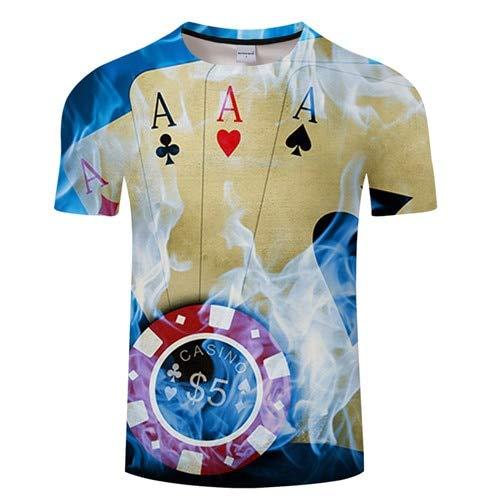 KYKU Neue 3D T-Shirt Männer Bier/Burger/Poker Hip Hop O Kragen Kurzarm Herren/Frauen T-Shirts T-Shirt Tops Großhandel Poker T-shirt Sweatshirt