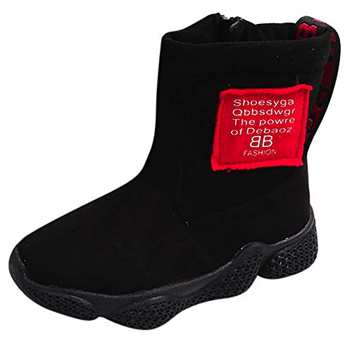 cinnamou Baby-Mädchen-Buchstabe-Turnschuh-Warmer Reißverschluss-Knöchel-Winter lädt Sport-Schuhe auf Stiefel