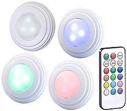 Lunartec Schrankleuchte: 4er-Erweiterungs-Set RGB+W-LED-Unterbauleuchten UBL-6.led (LED Schrankbeleuchtung)