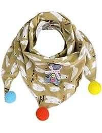 Kofun Écharpe Triangulaire, Enfants de bébé d automne Triangle écharpes  colorées Star Animal imprimées Bavoirs… 9e3f161f721