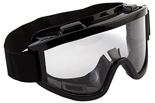 Okayji Adult Motorbike ATV / Dirt Bike Racing Transparent Goggles with Adjustable Strap (Black)