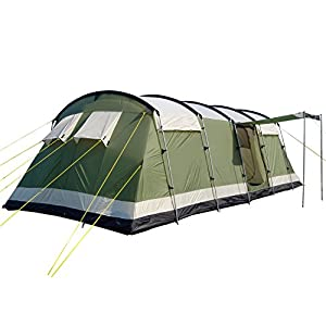 41WuEnJuxzL. SS300  - Skandika Milano Family Tunnel Group Tent with Sewn-In Groundsheet, 2 Sleeping Rooms, Sun Canopy