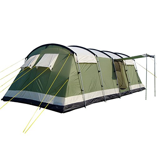 41WuEnJuxzL. SS500  - Skandika Milano Family Tunnel Group Tent with Sewn-In Groundsheet, 2 Sleeping Rooms, Sun Canopy