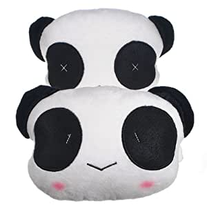 Seat Panda voiture en peluche couverture Head Neck Support Coussin oreiller en coton