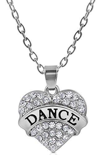 r Dance Herzform Kristall Halskette für Mädchen, Teenager, Frauen von Glamour Girl Gifts Collection (Disney Cinderella Kind Tiara)