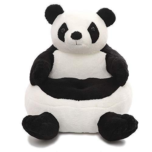 VERCART Sessel Schlafsofa Plüsch Tier für Kinder in Outdoor Sitzsäcke Kissen Sofa Sofakissen Hocker Sitzkissen Bodenkissen Füllung Möbel Panda 50x48x15cm -