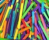 Wooden Coloured Standard Lolly Sticks x 250 by Arts & Crafts World
