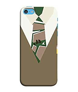 Apple iPhone SE Back Cover Executive Dress With Tie Design From FUSON