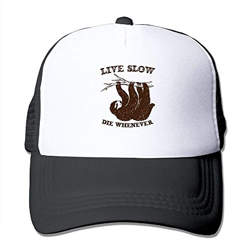 lijied Live Slow Sloth Adjustable Printing Trucker Hat Unisex Adult Baseball Mesh Cap -