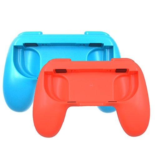 Iitrust Joy Con Grip für Nintendo Switch ABS Schützhülle (2er Pack Blue&Rot)