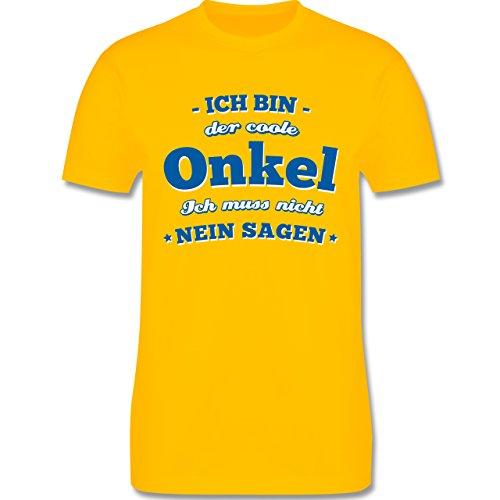 Bruder & Onkel - Ich Bin der Coole Onkel - Herren T-Shirt Rundhals Gelb